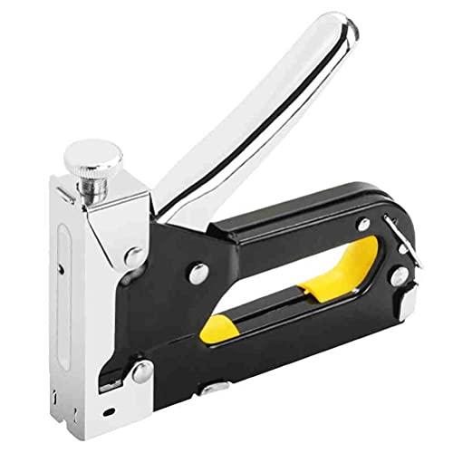 BJH Grapadora, Multiherramienta Grapadora de Clavos Grapadora de Muebles para tapicería de Puertas de Madera Enmarcado Kit de Pistola de Remaches Clavadoras Herramienta de Remache (Color: Negro)