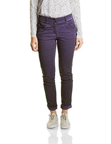 CECIL Damen New York 370921 Hose, Violett (Dark Purple 11085), 36/L32