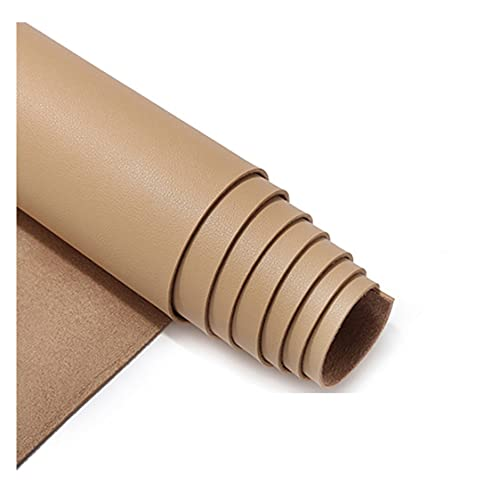 Tela de cuero Impermeable PU Tela de cuero sintético Material de cuero elástico para la elaboración Tela de cuero de vinilo Cuero sintético Tela de cuero impermeable ( Color : Beige , Size : 1.38X4m )