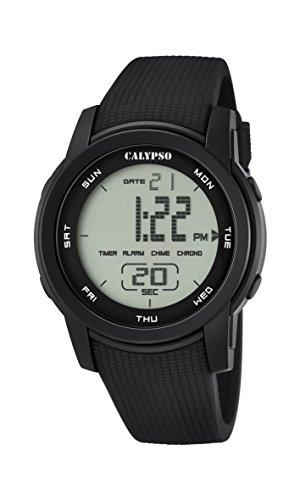 Calypso Reloj Digital Unisex con Pantalla Digital y Correa de plástico Negro K5698/6