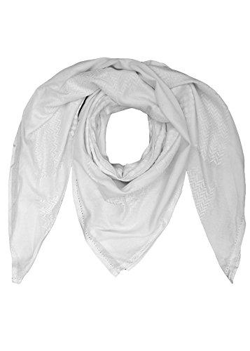 "Merewill Cotton Shemagh Tactical Desert Wrap Keffiyeh Head Neck Arab Scarf for Men 49""x49"" White"