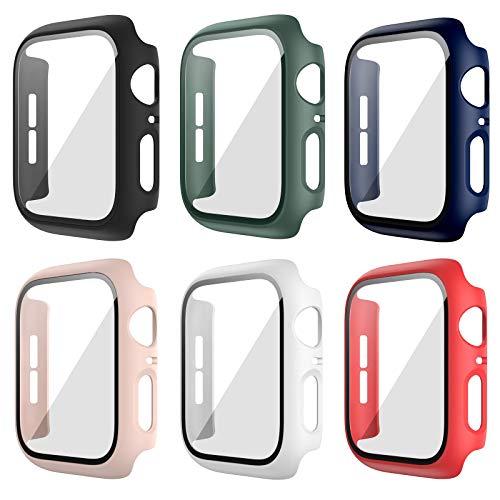 Anzela 6 unidades Hard PC Carcasa para Apple Watch Serie 3/2