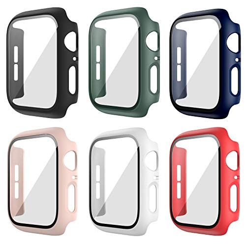 Anzela 6 unidades Hard PC Carcasa para Apple Watch Serie 3/2/1 38...