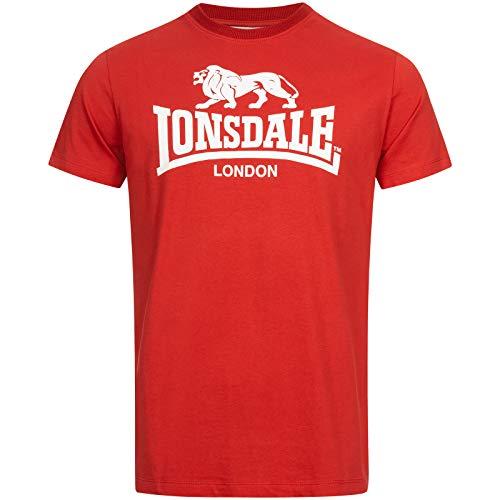 Lonsdale Camiseta para Hombre St. Erney Rojo M