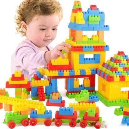 HENGLOBE Building Blocks for Kids - Certified European Saftey Standards (50+PCS Small Blocks Bag Packing, Best Gift Toy, Block Game for Kids,Boys,Children