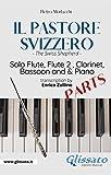 Il Pastore Svizzero - Solo Flute, Woodwinds and Piano (set of parts): The Swiss Shepherd (Italian Edition)