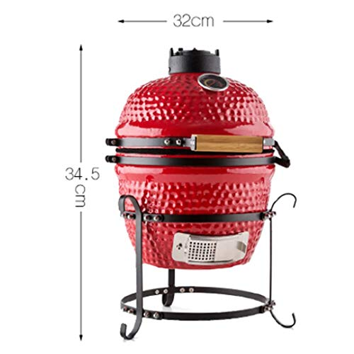 41JXfE9byxL - ChangDe - Weber Holzkohlegrills BBQ Grill - Outdoor Keramik Grill Garten Camping BBQ Emaille Grill Abnehmbarer Ei Holzkohlegrill
