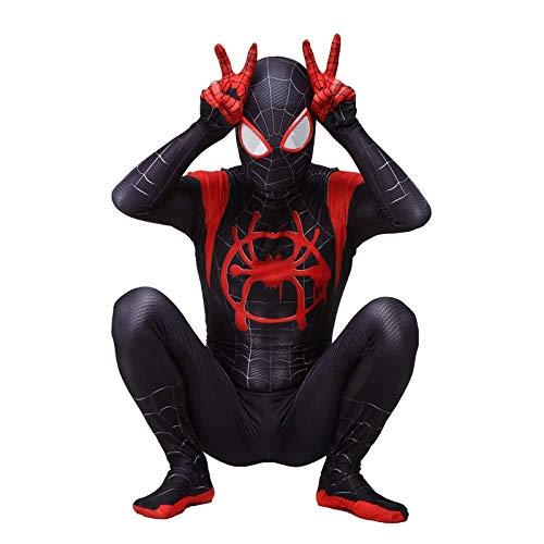 Spiderman Cosplay Kostuum Volwassen Kinderen 3D Gedrukt Spiderman in De Spider Verse Miles Morales Cosplay Kostuums Spiderman Bodysuit Spidey pak XXL Volwassenen