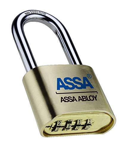ASSA Lock SRB37 Resettable Brass Padlock