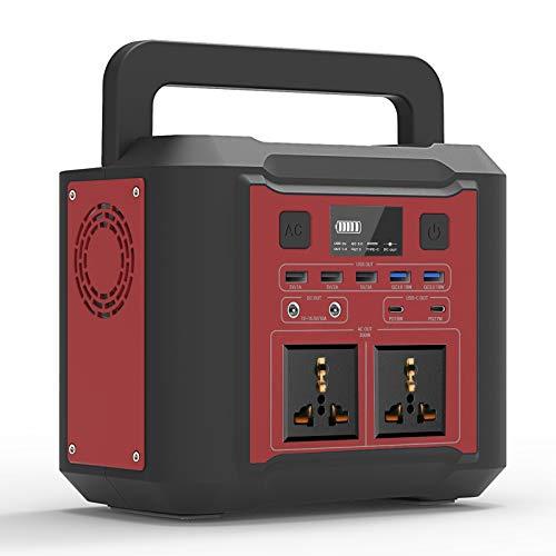 UKing 80000mAh Generador Portátil, 296Wh Generador Solar con 2 CA/QC 3.0/Typ-C y 4W luz LED para acampar al Aire Libre,Viajes, Emergencia
