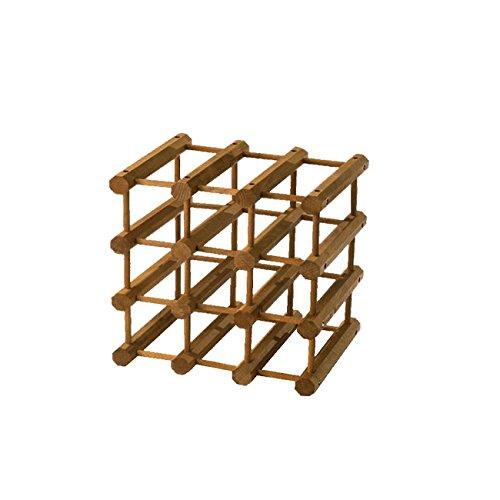 WEBMARKETPOINT Cantinetta modulare portabottiglie in Legno di faggio 12 posti