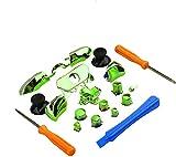 Einuz Juego completo de reparación de piezas ABXY Dpad activadores Botones Kits Controlador Mod L1 R1 L2 R2 Reemplazo para Xbox One Elite XboxOne Elite (verde)