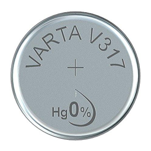 Varta 14501317 silberoxid Knopfzelle (V317, 1er Pack) silber