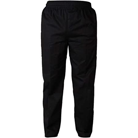 Shiwaki Chef Pants Trousers - Breathable Work Pant for Men and Women, 4 Patterns 5 Sizes to Choose from - Black 4XL