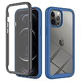 Kompatibel mit Apple iPhone 12 Pro Max Hülle 360 Grad Handyhülle Frontabdeckung mit eingebautem Displayschutz Stoßfest Ganzkörper Transparent Kratzfest Schutzhülle Cover für Apple iPhone 12 Pro Max-3