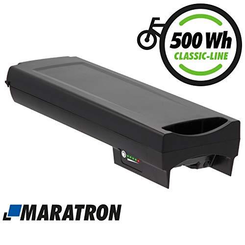 Maratron Ersatz-Akku für Bosch PowerPack Classic+ 500 Gepäckträger E-Bike Pedelec Akku von GTE