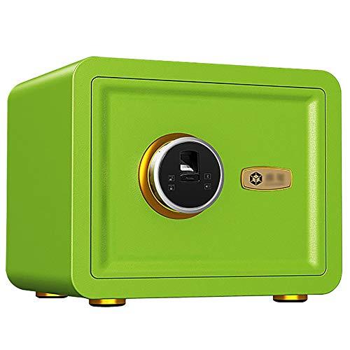 WJ Safe Tresor Süßigkeit-Farben-Fingerabdruck-Safe für Frau, Small Office Nachtschrank Tresor, Anti-Pry Passwort Aufbewahrungsbox (Color : Style3)