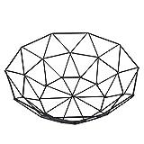 Estantes Plato de frutas Cesta Negro Hierro forjado geométrico de frutas Homeware la cesta del almacenaje - duradera rack Tiesto Zixin