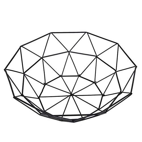 Planken Fruitmand zwarte smeedijzeren Geometrische fruitschaal In huis Storage Basket - duurzaam Flower Pot Rack XIUYU