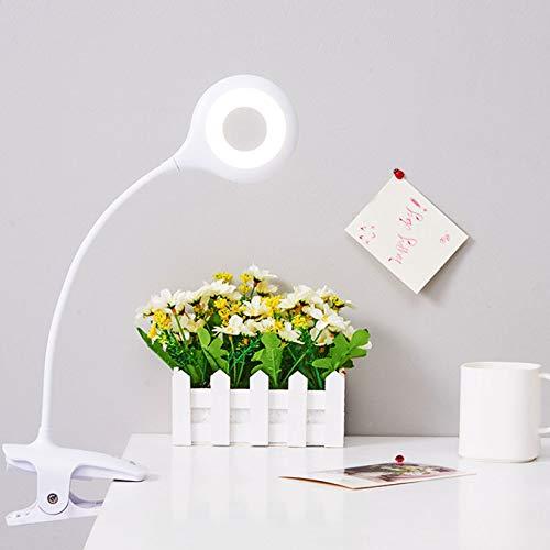 Shuhong Ring, clip, bureaulamp, draagbare leeslamp, flexibele nek touch 3. Oplaadbare oogbescherming voor dimmen.