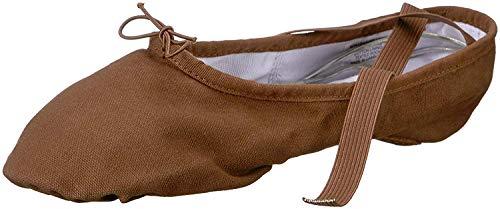 Bloch Women's Pump Split Sole Canvas Ballet Shoe/Slipper Dance, Cocoa, 6.5 Narrow