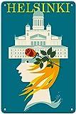 Nololy Helsinki Vintage Blechschilder Retro Metall Poster