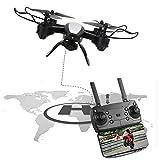 Drone, 5MP Posicionamiento RC Quadcopter Helicóptero Fotografía aérea con Control Remoto para Juguete RC al Aire Libre(Black)