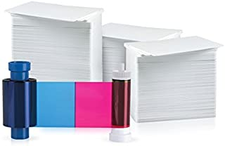 Magicard 100 Print 5 Panel YMCKO Ribbon for Pronto (MA100YMCKO) and 100 AlphaCard Premium Blank PVC Cards Bundle