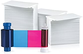 Magicard 100 Print 5 Panel YMCKO Ribbon for Pronto (MA100YMCKO) and 100 AlphaCard Premium Blank PVC Cards Bundle