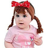 Lujuny Funny Fake Braid Headband for kids - Cute Bowknot Faux knitted Hair Hairband for Girls Boys Aged 3-8 Yrs