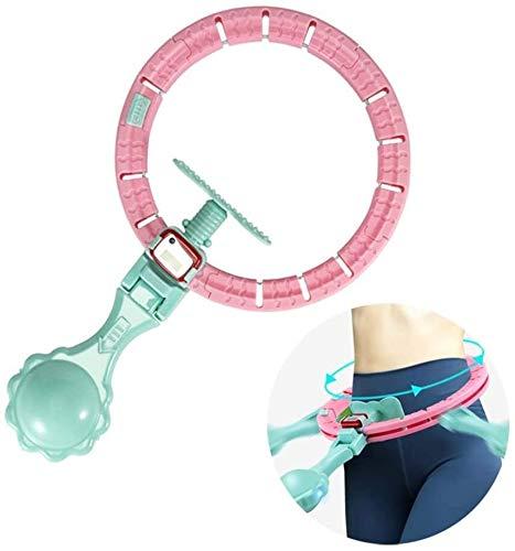 CPAZT Intelligent Zählen Hula Hoop, Fitness Massage Sport Hoop, Auto-Spinning Hoop, abnehmbare und einstellbare Größe Entwurf, Nicht Fallen, LCD-Display, Gravity Ball mit LED-Licht YCLIN