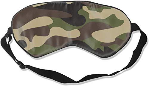 Natuurlijke Zijde verduistering Oog Masker, Zachte Verstelbare Blinddoek voor Mannen Vrouwen Kids Ooghoes, voor Slapen Reizen Nap Shift Werk Oogschaduw, Groen Bruin Camo Camouflage Glad Slaap Masker