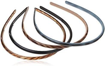 4-Count Scunci Effortless Beauty Skinny Plastic Headbands