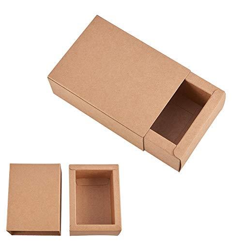 BENECREAT 20 Pack Caja de Cartón Kraft Cajas de Regalo para Fiesta Superior Envase de Joyería - Marrón 11.2x8.2x4.2cm