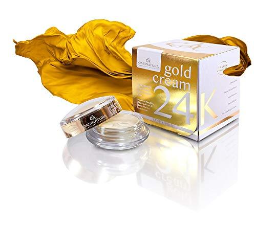 GOLD CREAM 24K CON ORO PURO E PERLE DI PROFONDITA' AZIONE RIGENERANTE E ILLUMINANTE E FASHION FOULARD Mero&More in seta