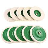 Rueda de pulido de la rueda de pulido, rueda de pulido de lanas Almohadillas de pulido resistentes al desgaste del desgaste del desgaste de la rueda del molinillo de la molienda del trozo del disco de