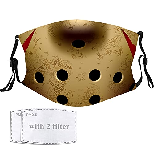 Jason Face Mask Merch Halloween Decorations Horror Movie Scary Funny Gear Face Cover Merchandise Party Gifts for Women Men Adults Kids