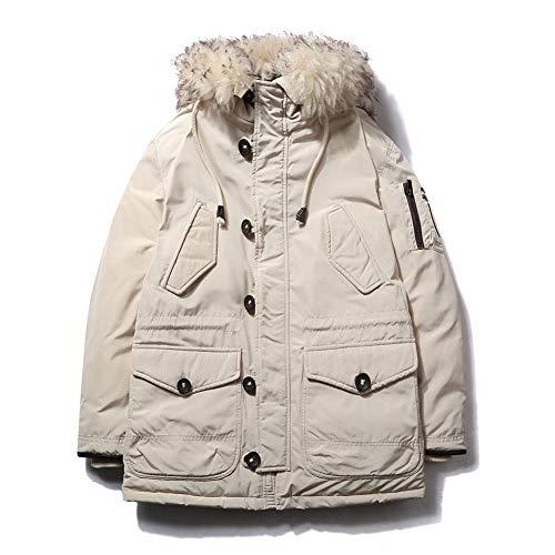 YZY Mannen Down Katoen Jas Dikke Plus Size Hooded Bovenkleding met Grote Bont Kraag, Winter Warme Jas voor Reizen Wandelen