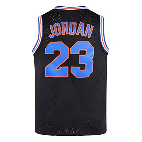 WELETION 2017 Space Jam Men Size Jersey Basketball Game Jersey - #23 Black (S, Black)