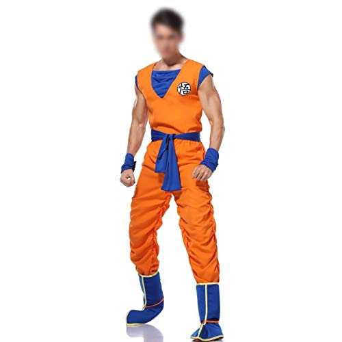 GONG Cosplay Adult Men Anime Dragon Ball Z Goku Costume Suit Christmas Costume Set Fancy Cosplay Suit (Color : 1, Size : X-Large)