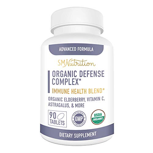 Organic Defense Complex - 30-Day Supply; Immunity Blend for Immune Support; Organic Elderberries, Vitamin C, Organic Astragalus for Ultimate Immunity Support