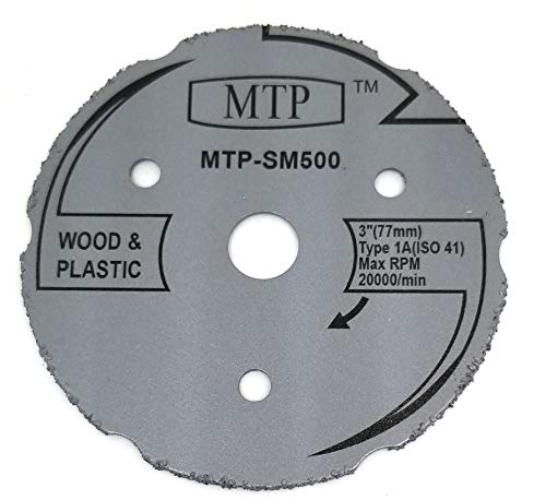 MTP Brand SM500 Saw Max 3' Wood Plastic Segment Carbide Circular Saw Max US40 and Rotozip zipsaw RFS1000 (1)