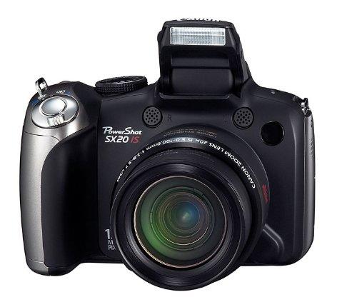 Canon PowerShot SX20 IS Digitalkamera (12 MP, 20-fach opt. Zoom, 6,4cm (2,5 Zoll) LCD-Display, HD-Movie, HDMI) schwarz