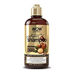 ENHANCED GLOSS & SHINE: WOW Moroccan Argan Oil Shampoo contains quality argan oil for a healthy restorative hair process for dull, dry, frizzy hair. Suitable for straight, curly, and wavy hair types. SLOW DOWN HAIR LOSS: Natural DHT blocker that mini...
