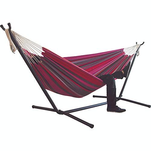 Undefined hamac pour Deux Personnes Camping épaissir Chaise pivotante lit Suspendu extérieur Chaise à Bascule en Toile Non avec Support 200 * 150 cm-Couleur_