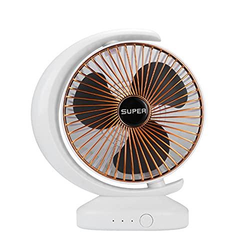 GYNFJK Ventilador USB,Ventilador Portátil Escritorio Hogar, Ventilador Silencioso, Ventilador con 3 Cuchillas Suaves Pequeño,Oro