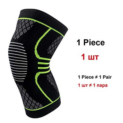1 Sports Fitness Running Riding High Elastic Fitness Rodilleras Calientes - Verde, L