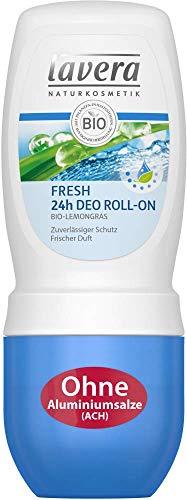 Lavera Desodorante Roll-on Fresh de citronela ecológica, 3 unidades (50 ml).