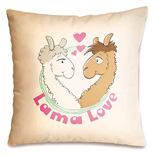 "NICI 42162 Baumwollkissen ""Lama Love"", 37 x 37 cm"
