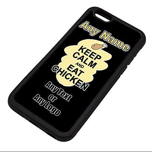 UniGift Coque en TPU pour iPhone avec inscription « Keep Calm Eat Chicken », TPU., Noir , iPhone 6 / 6s